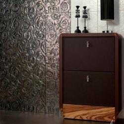 Луксозни плочки за баня в кафяв с релефни орнаменти цвят / ALCALATEN