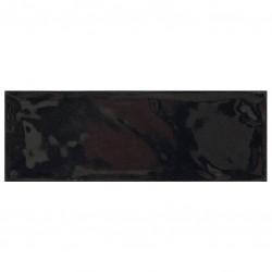 Фаянс за баня - стенни плочки в черен цвят 10х30 Black Bulevar