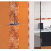 Оранжеви плочки за баня