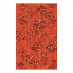 Декорни плочки в червен цвят на флорални елементи 25x40/ Vivel Decorado
