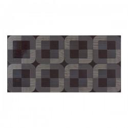 Кафяви декорни плочки с цветни елементи 25х50/ Tresor Decorado