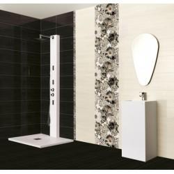Стилни  плочки за баня в бял/черен цвят / CERAMICA LATINA