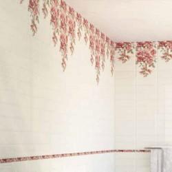 Плочки за баня / светли с красив цветен декор