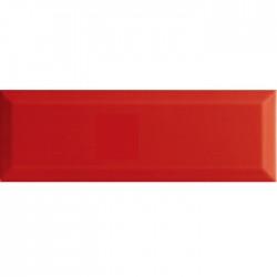 Фаянс за баня - стенни плочки в червен цвят 10X30 BRILLO ROJO