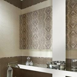 Плочки за баня представена от бял и кафяв цвят / APARICI