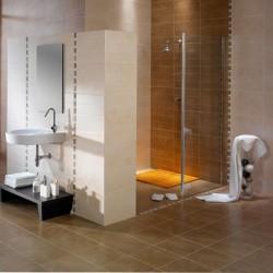 Плочки за баня в светло кафяв цвят / APARICI