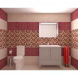 Плочки за баня в прелестна комбинация на свежи цветове