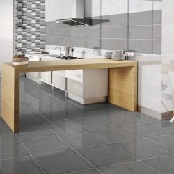 Плочки за баня в прекрасен сив цвят с бляскъв ефект