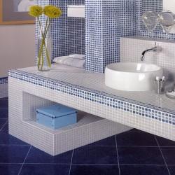 Плочки за баня в красива цветова гама на бялото или синьото / APARICI, N 29657