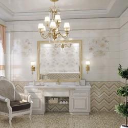 Създаващи настроение  плочки за баня в бял/бежов цвят / MAPISA