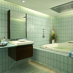 Посрещнете зеления цвят в банята