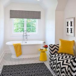 Геометрия и цветове в банята