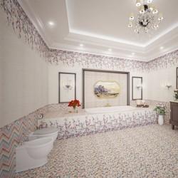 Прекрасни  плочки за баня в шарен цвят / MAPISA