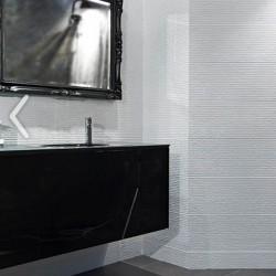 Плочки за баня в бял цвят с релефна повърхност / Venus
