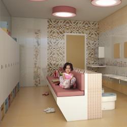 Испански плочки за баня -  Детска стая 2 в бежово, N 23660