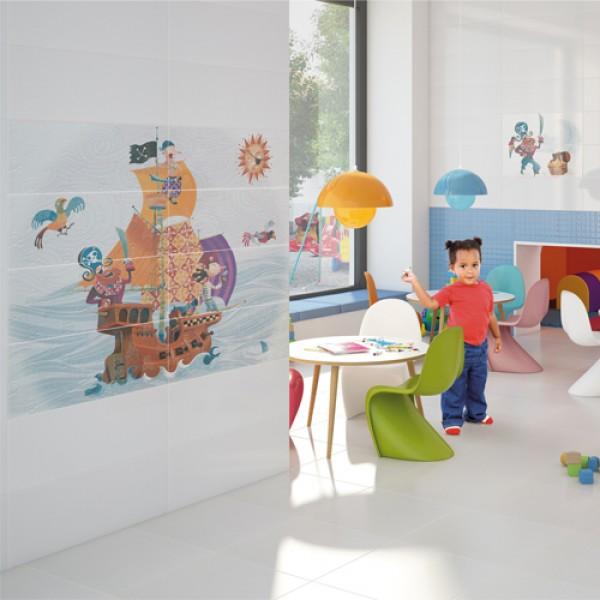 Испански плочки за баня -  Детска стая пиратски кораб, N 23663