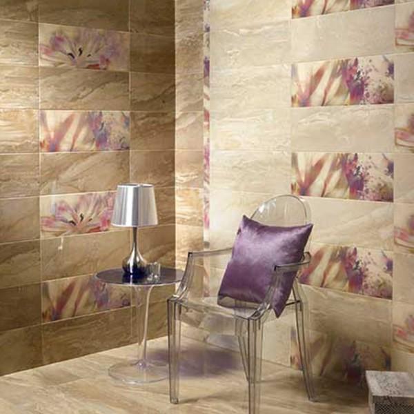 Стилни плочки за баня в бежов цвят  - луксозни