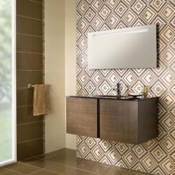 Създаващи настроение испански плочки за баня в бежов/кафяв цвят