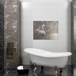 Дизайнерски испански плочки за баня в кафяв/бял цвят