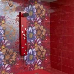 Червени плочки за баня