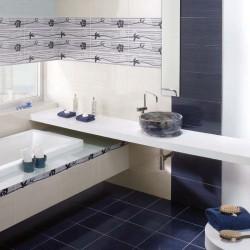 Модни испански плочки за баня в бял/син цвят