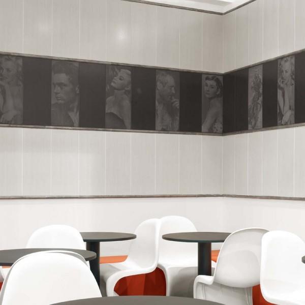 Дизайнерски испански плочки за баня в черно-бял цвят