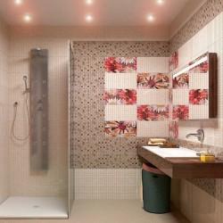 Прекрасни испански плочки за баня в бежов цвят