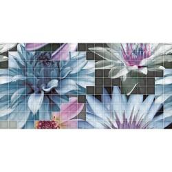 Мозаечни плочки Mosaico Flor 1, 25x50, цвят бял /  Колекция Decor