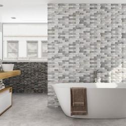 Плочки за баня / облицовъчни в бяло-сив цвят