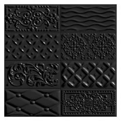 Фаянс за баня - стенни плочки в черен цвят 10х20 Negro Raspail