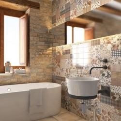 Плочки за баня в комбинация от няколко цвята / Колекция от Vives